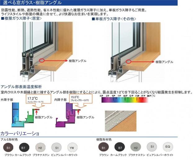 選べる窓ガラス